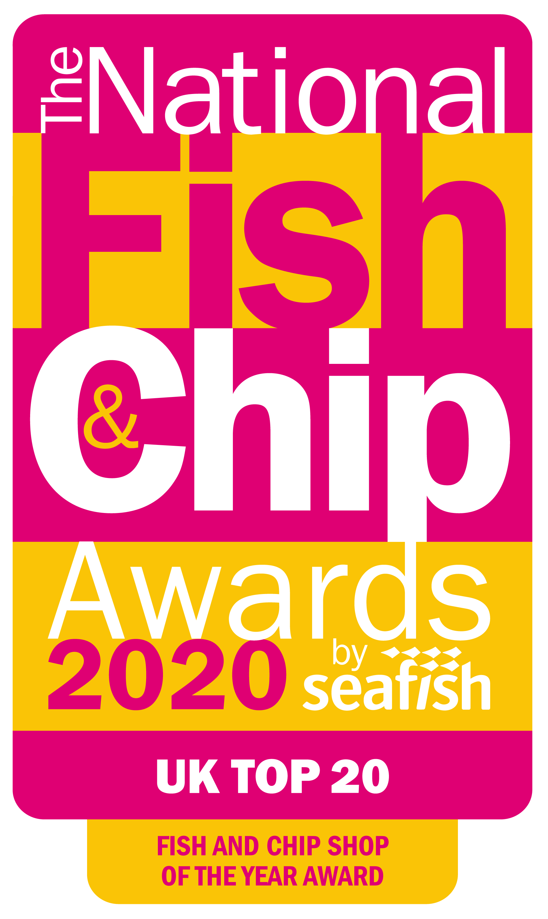 NFCA20 Top 20 Logo - Fish and Chip Shop of the Year Award