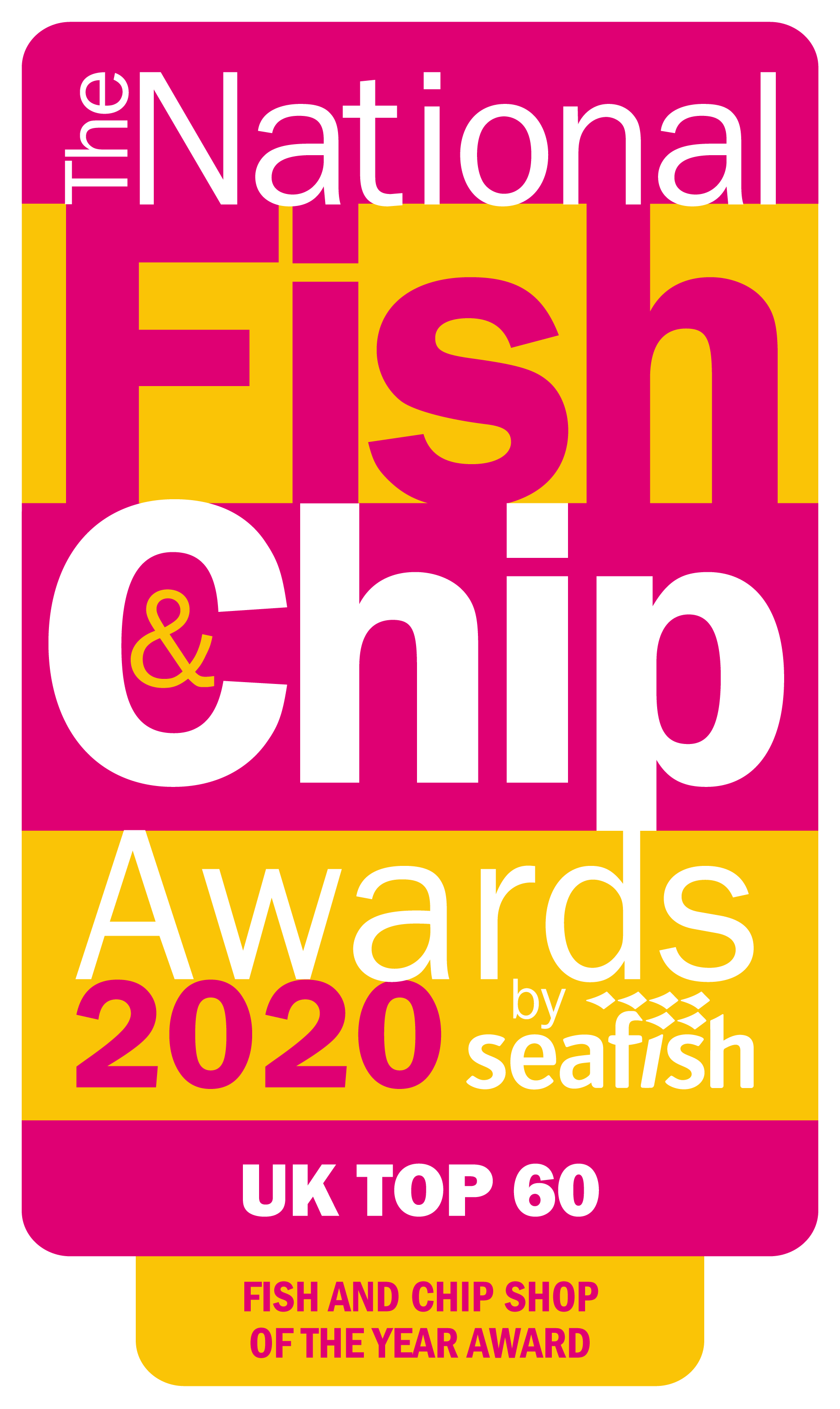 NFCA20 Top 60 Logo - Fish and Chip Shop of the Year Award
